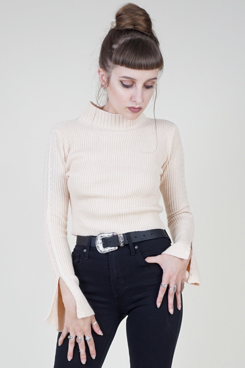 Flare To Be Different Turtleneck Crop Top .jpg