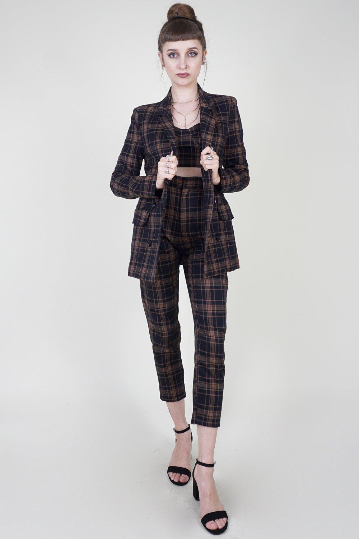 Takin' Cher Of Business Plaid Blazer .jpg