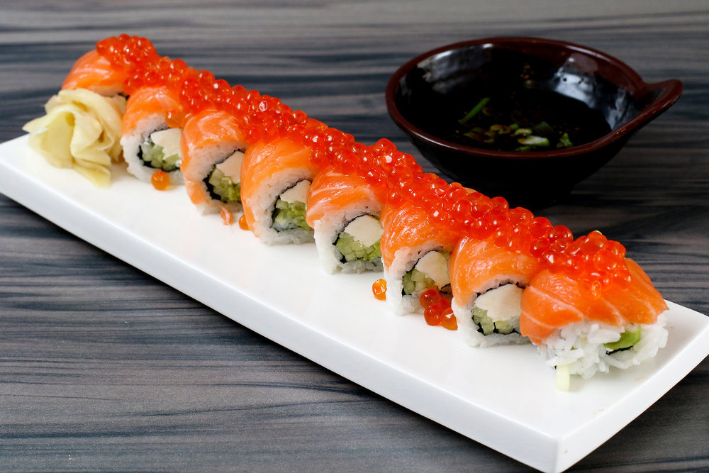 Salmon Family Roll Kui Shin Bo Japanese Restaurant San Francisco.jpg