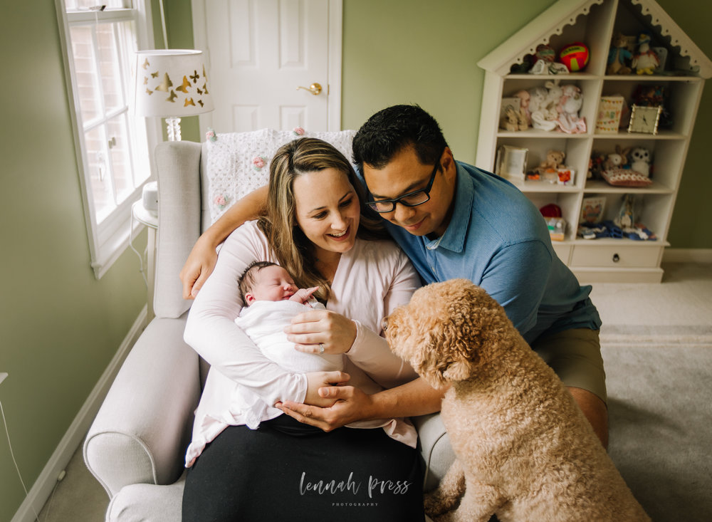 Northern Virginia Lifestyle Newborn Photographer