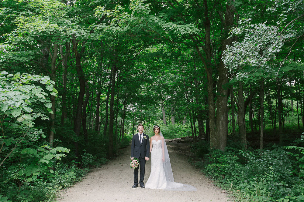Organic Summer Wedding Inspiration  Waterfall Glen Forest Preserve