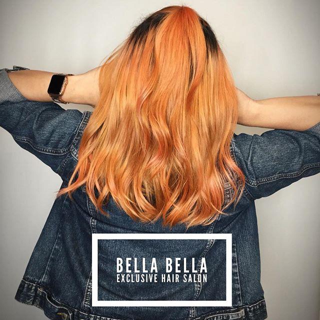 When that elumen gets you in your feelings. Book your next bold move with us.#olaplex #goldwell #goldwellelumen #goldwellapprovedus #kmsapprovedus #behindthechair #instahair #haircolor #haircolour #hairdye #hairenvy #hairmagic#bellabellaexclusivehairsalon #bellabella #bookwithus #hairbrained #mondernsalon #mondernsalonmagazine #btcpics #americansalon #peachykeen #peachhair #princesspeach #peaches #oya #hairinspo #hairenvy #hairofinstagram