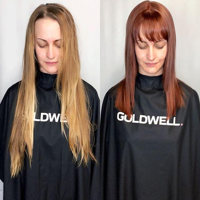 New hair....who's this 💁🏻♀️ #redheads #redhair #catchingfire #olaplex #instagramhair #goldwell #goldwellapprovedus #behindthechair #instahair #haircolor #haircolour #hairdye #hairenvy #hairmagic#bellabellaexclusivehairsalon #bellabella #bookwithus #hairbrained #mondernsalon #mondernsalonmagazine #btcpics #americansalon #transformations #hairofinstagram #instahair