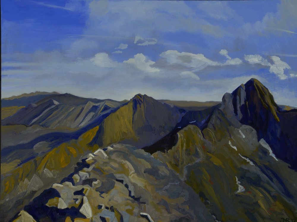 "Ridge to Blanca Peak, 36"" x 48"", 2017"