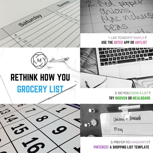 Some of us were born organized. For others of us, well, the struggle is real. But who doesn't love a good app to keep life a little more tidy?Here are a couple of our favorite grocery list apps. What are yours? Meal planning tips & tricks are on our blog now. #linkinbio