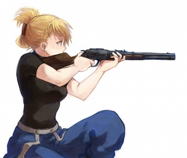 I'm aware this isn't a shotgun, but it's Riza Hawkeye, who's bad-fucking-ass