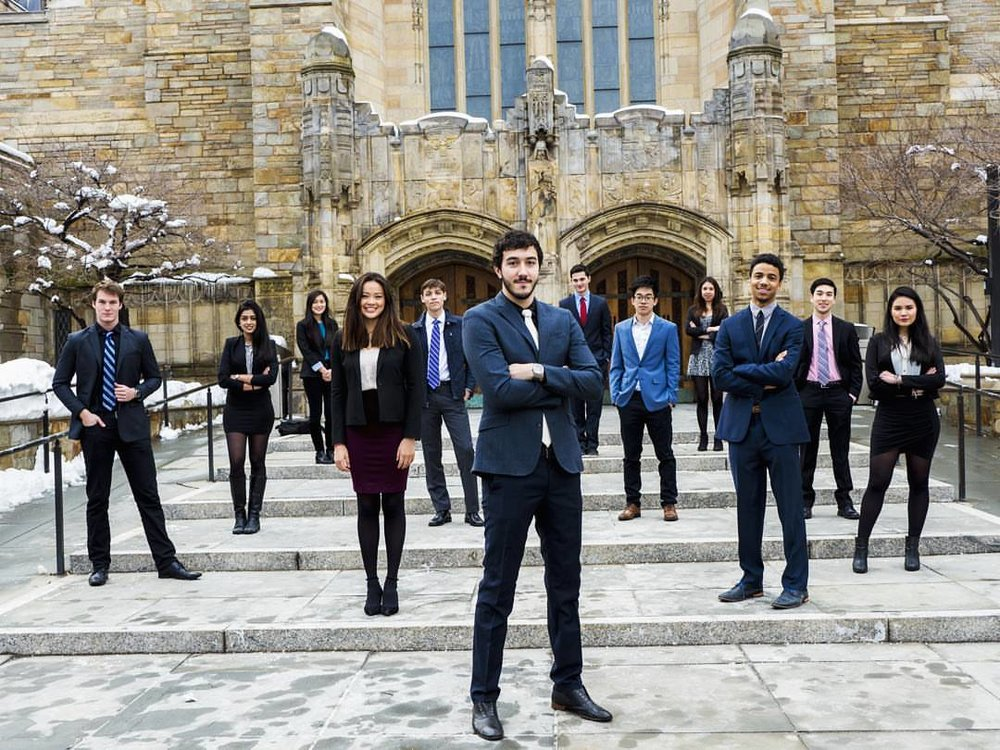 The AIESEC Yale team of 2017.