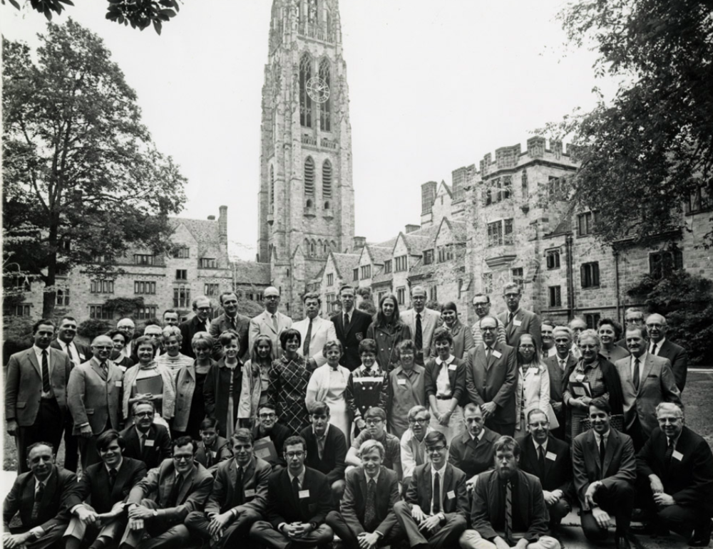 AIESEC at Yale members at the Branford College Courtyard.