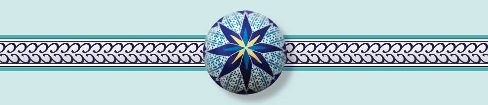 The double star symbol on the top of this Ukrainian  pysank a (Easter egg) signifies union of the soul with God.