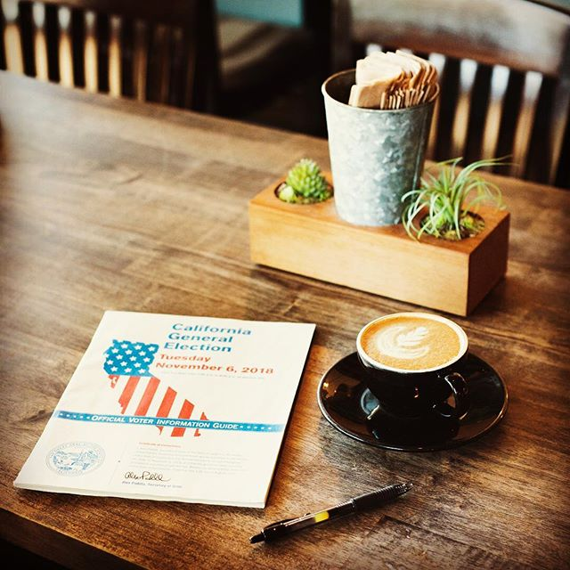 Make sure you get out there and vote tomorrow. Your coffee will be waiting... #swork_coffee #eaglerock #lacolombe # #vote #voterregistration