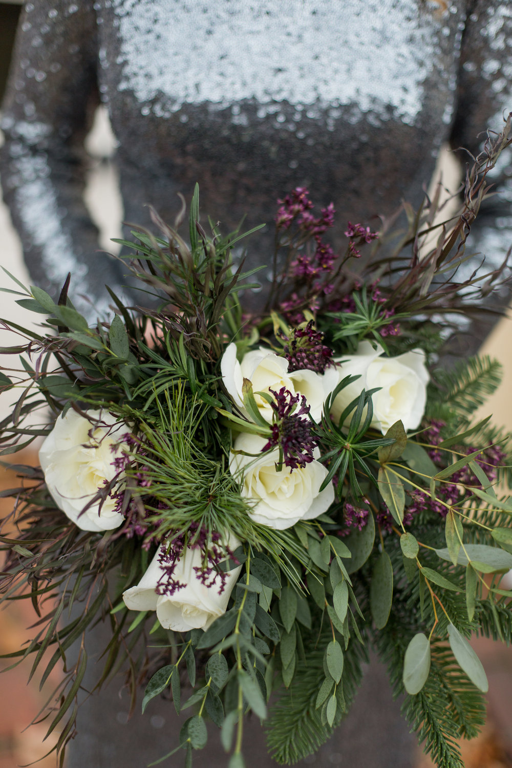 Romantic Moody Floral Bridesmaids Bouquet