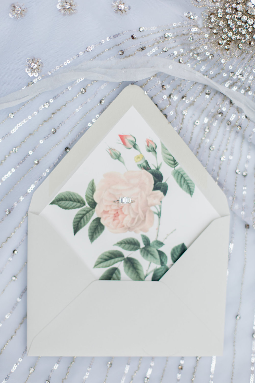 Vintage Floral Envelope Liner