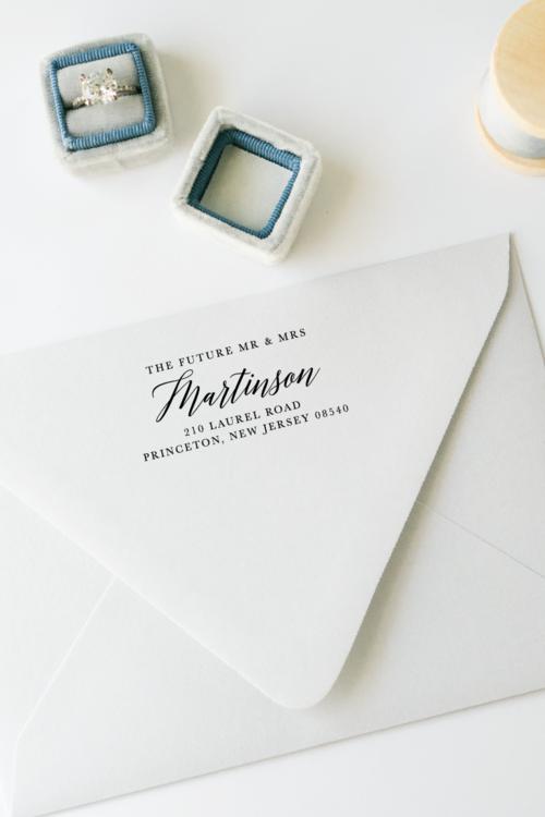 The Future Mr Mrs Personalized Return Address Stamp
