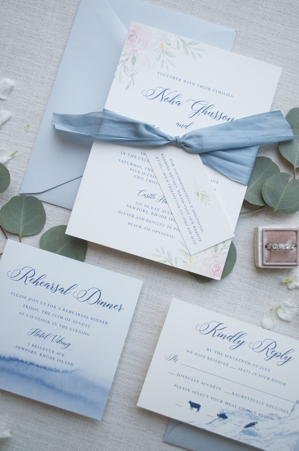 Castle Hill Inn Wedding Invitation Suite