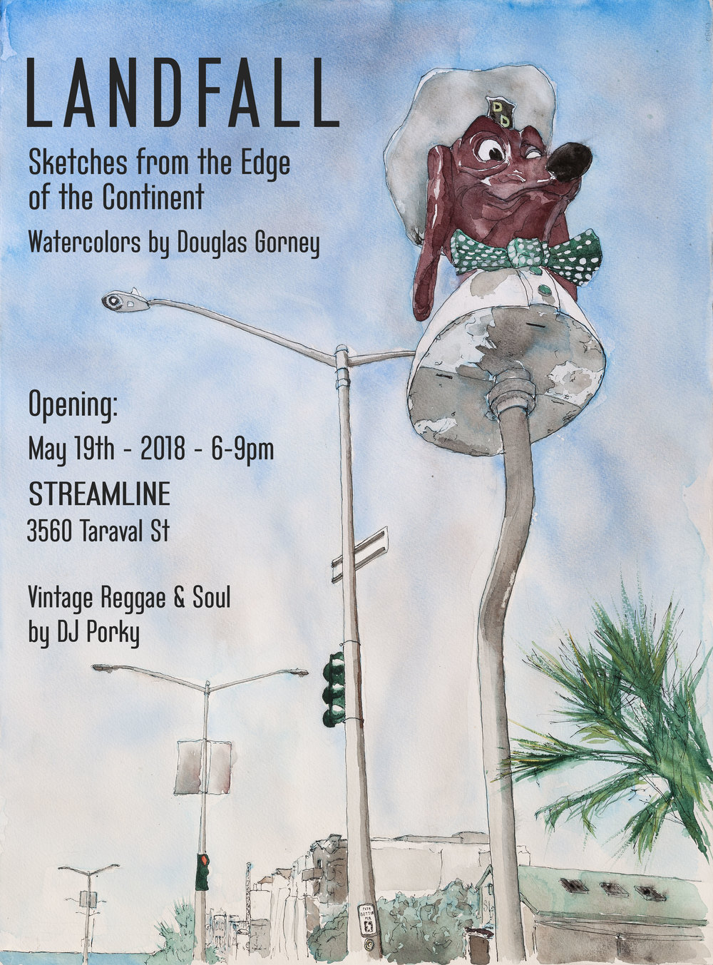 New watercolor sketches, prints and show posters for sale. Refreshments from Fort Point Beer Company will be available. Kids welcome!    http://www.streamlinesf.com/  -  Directions