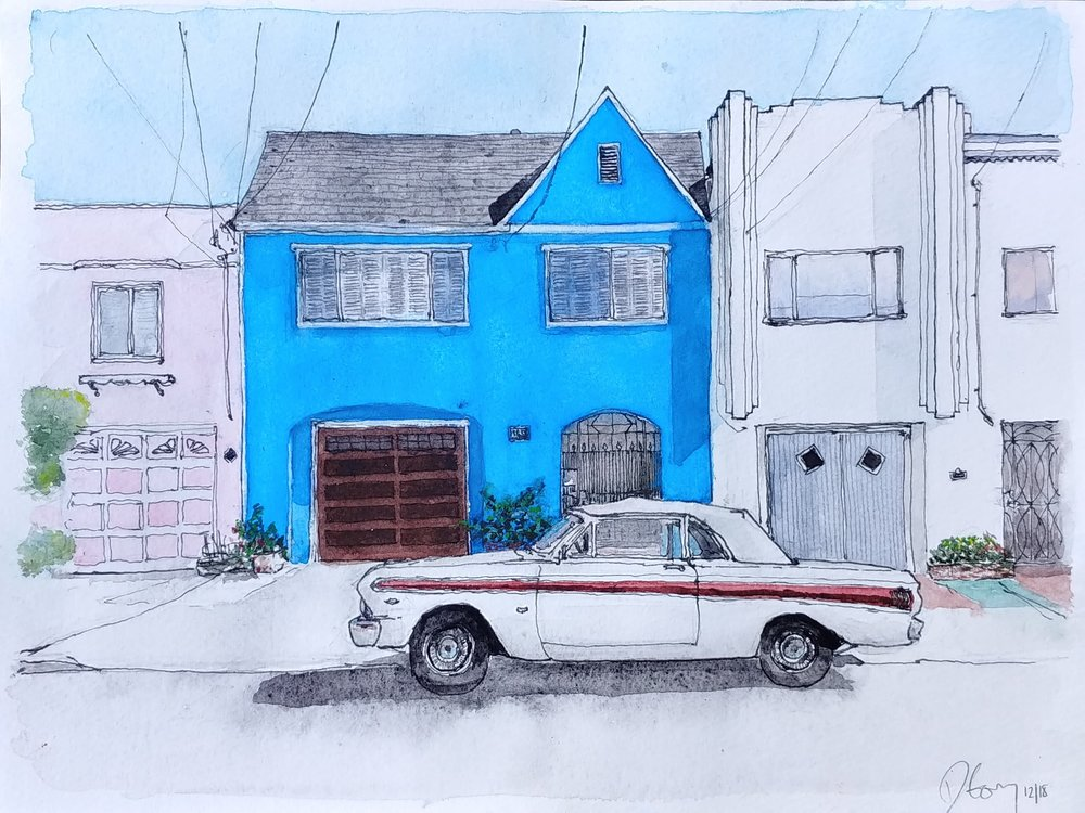 Blue House, White Falcon, 45th Avenue