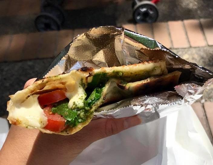 Caprese piadina from the Alder Street Food Cart Pod