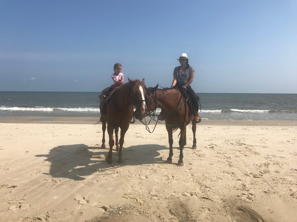 Making memories with my daughter! We both loved the beach ride.