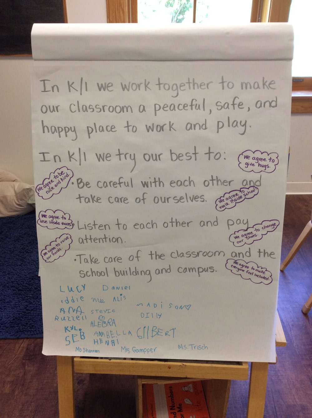 K/1 ESSENTIAL AGREEMENT SIGNED BY K/1 TEACHERS AND STUDENTS