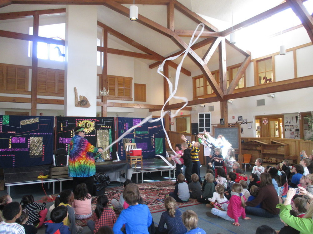 All School Gathering Science Storytellers