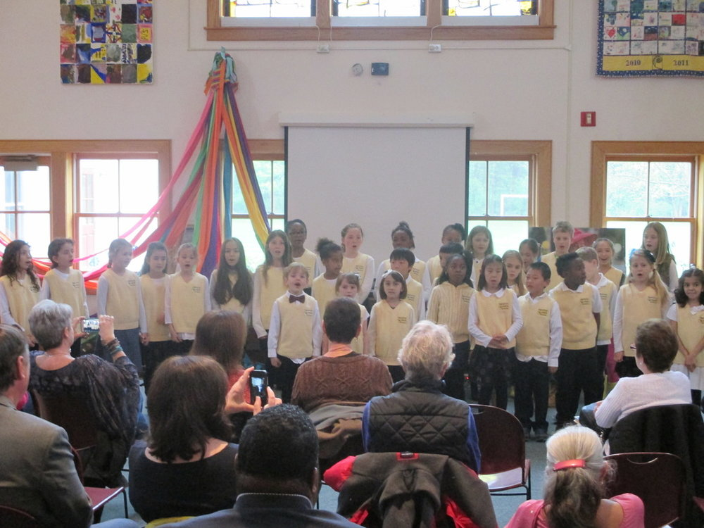 PJS Chorus Performs on Founder's Day