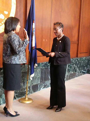 Sheila bein sworn in