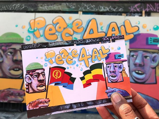 Added the #Black Mail Collective 'Peace 4 All' mural to the #StreetSalad collection 🧡@theblackmailshow