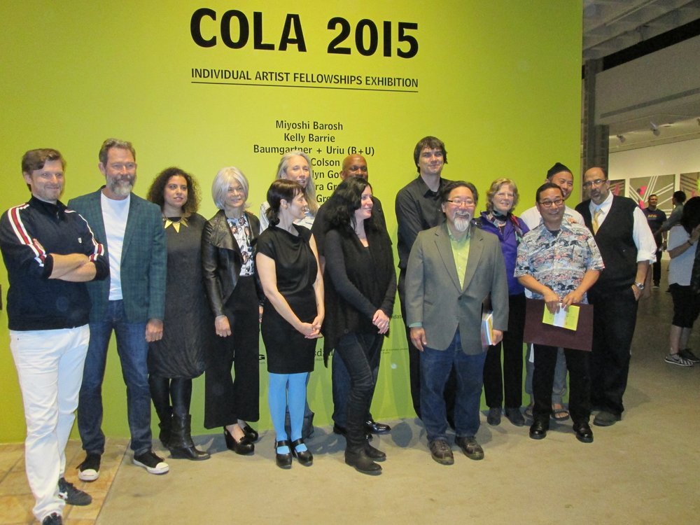 July 2015 COLA Fellowship opening reception at the Los Angeles Municipal Gallery in Barnsdall Park.