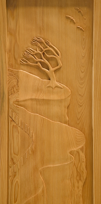 Detail of Torrey Pine Entry Door