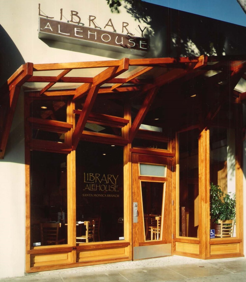 Library Alehouse, Santa Monica, California  Built using all sustainable woods including Narra, White Oak and Panga Panga.