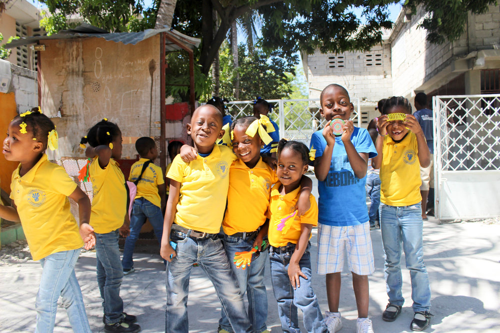 Our schools and our students are supported through donations and monthly sponsorship. - We invite you to join our community through support of the education, meals, and opportunities we provide our friends in Haiti.