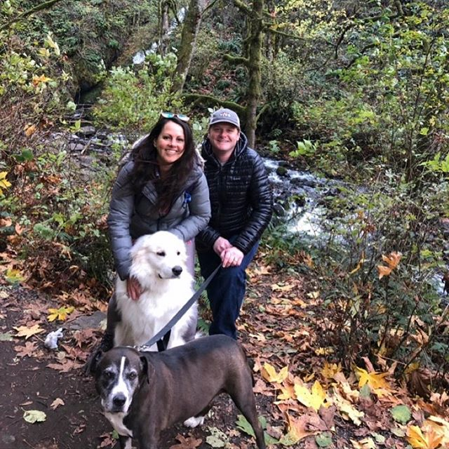 gorgeous fam hiking day @ the gorge + bridal veil falls 👣🐾🖤 oregon doesn't suck ✨