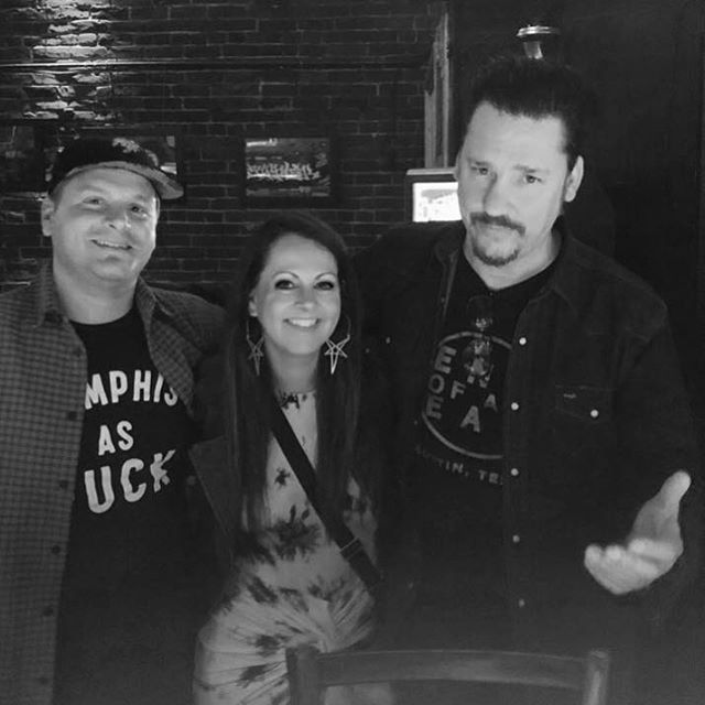 💀 amazing time hanging w/ @jessedayton + @therealbencouch this week - if you haven't heard JD's music yet, you're missing out 🖤 and he totally kills it live 🎸The only missing piece was my cosmic sista @emilyk808 to rock out with us, but soon we too shall be reunited!👣