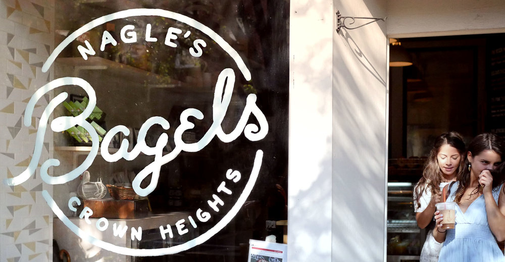 Nagle's Bagels storefront - logo design and paint job by Joe Rufa