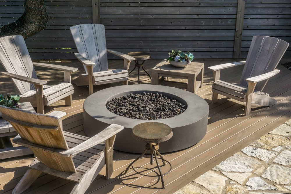 Firepit and Composite Deck