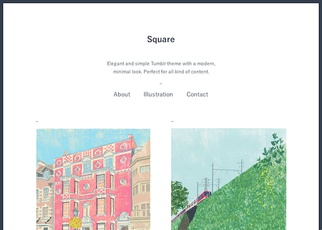 Square - 画像・文章ともに綺麗に表示される見やすいテーマ。日本製。