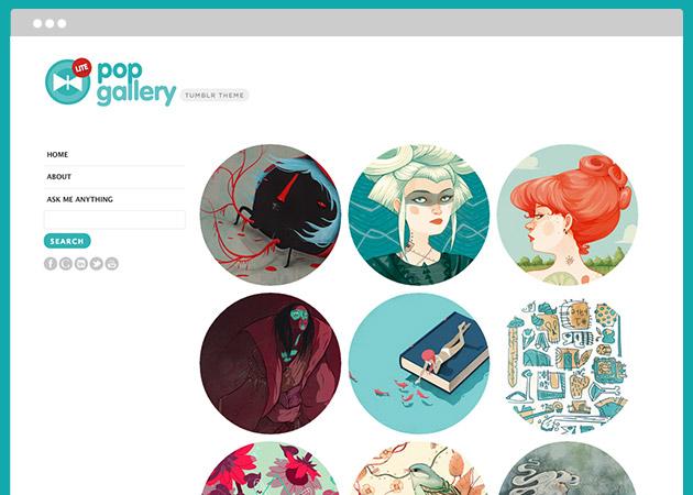 Pop Gallery Lite - 画像が丸く表示される珍しいテーマ。イラストまとめなどにおすすめです。