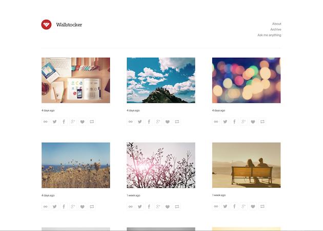 Wallstocker - ポートフォリオ向けのクリーンなテーマ。画像を一枚一枚美しく並べたいひとにおすすめ。日本製。