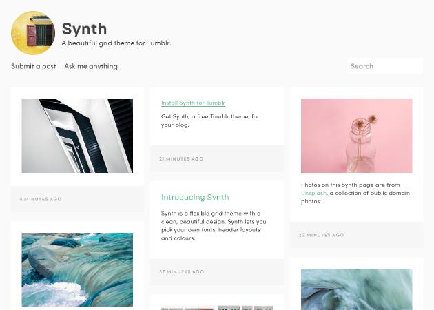 Synth - クリーンで美しいテーマ。動きがかわいい。
