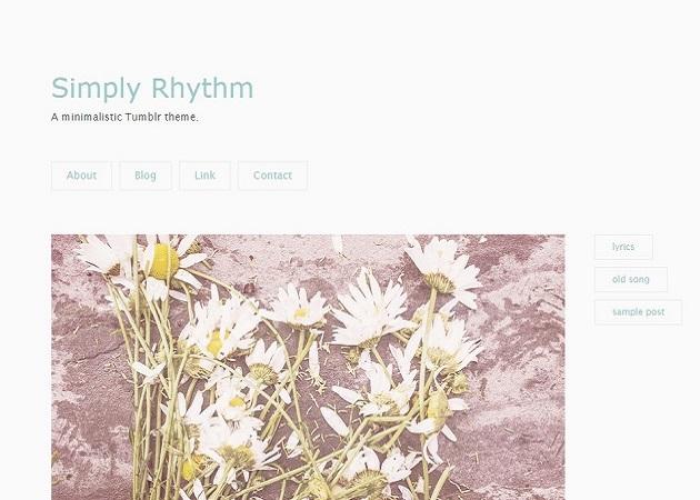 Simply Rhythm - ふんわりと女の子らしいテーマ。画像1枚+文章がおすすめ。