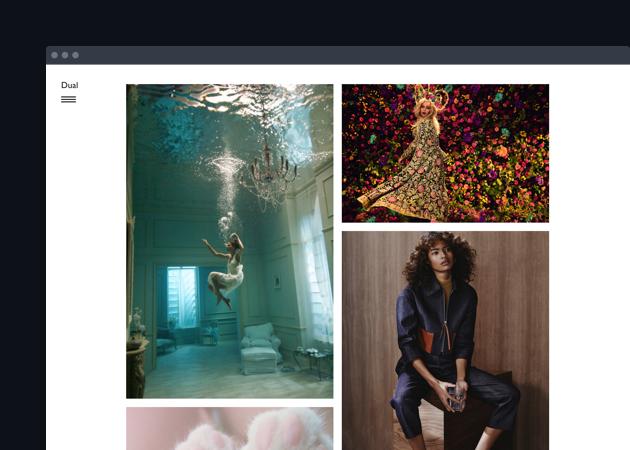 Dual - 画像がグリッド表示されるシンプルなテーマ。