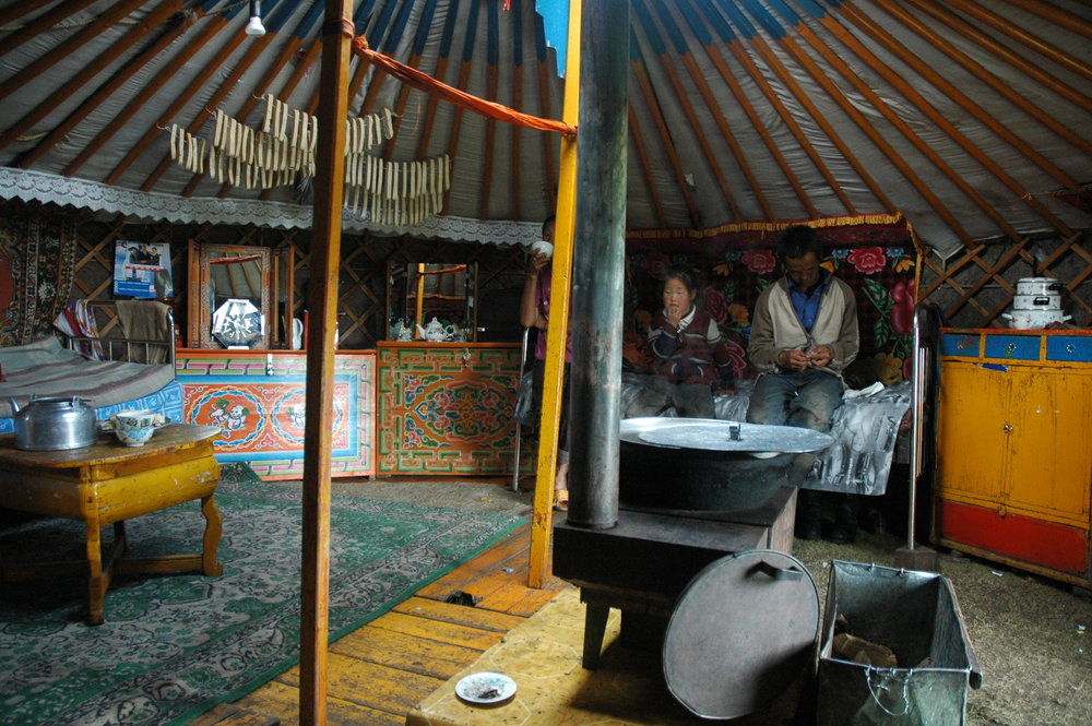 Inside a traditional Mongolian Ger