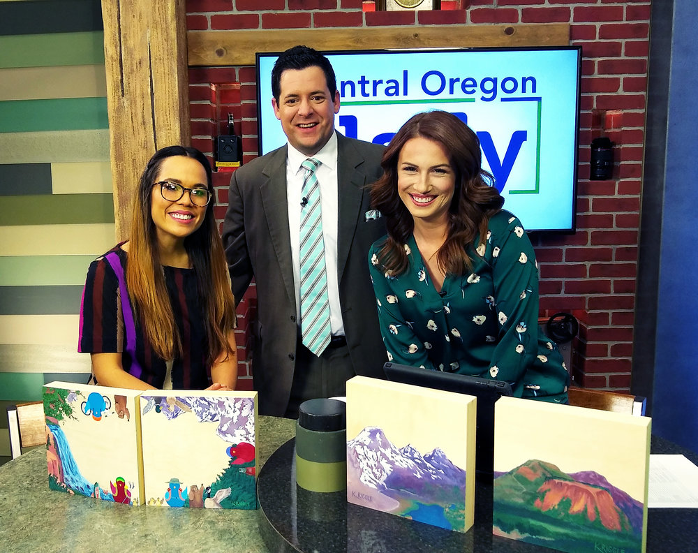 Central Oregon Daily - I talk with Samantha O'Conner and Dorrell Wenninger about the creation of my new board book and about the Kickstarter launch. (2019)