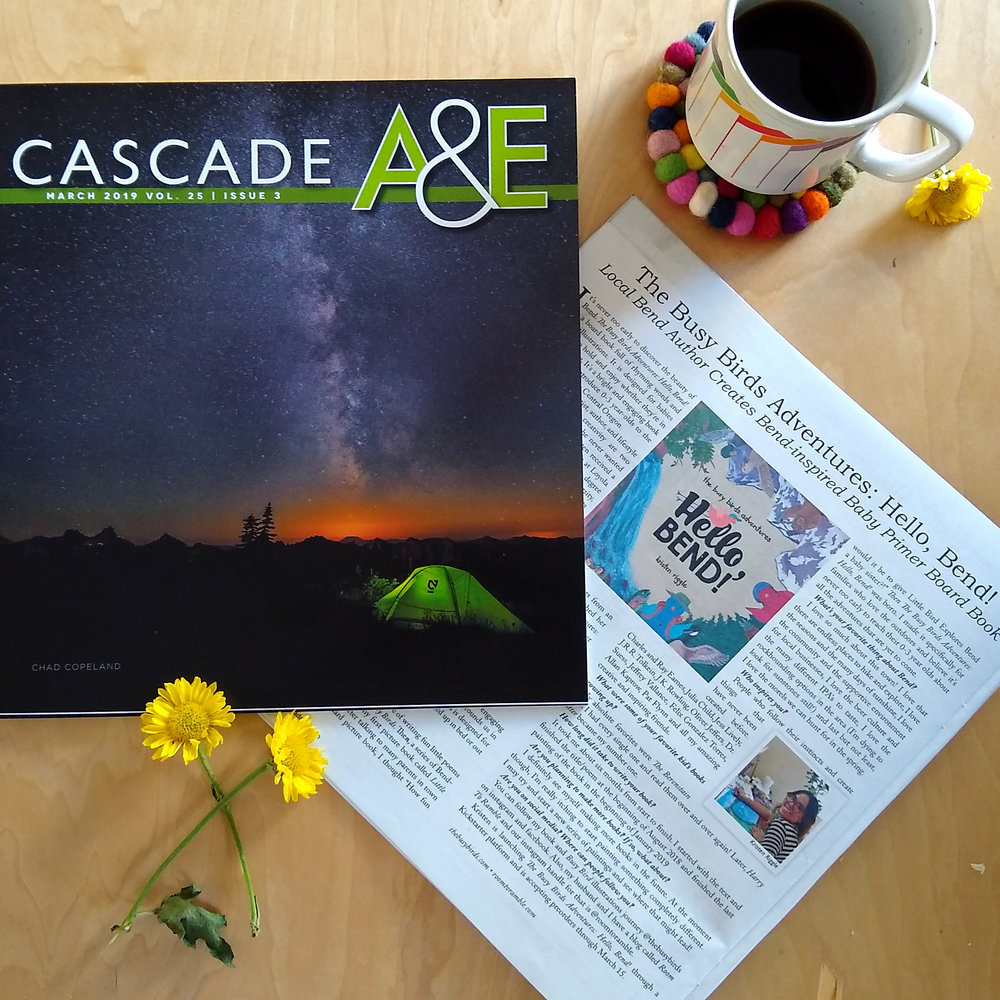 Cascade A&E: March Issue - A little about me and an author Q & A about my new baby primer board book.(2019)