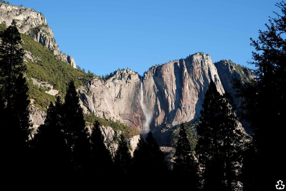 Yosemite falls from Yosemite Valley