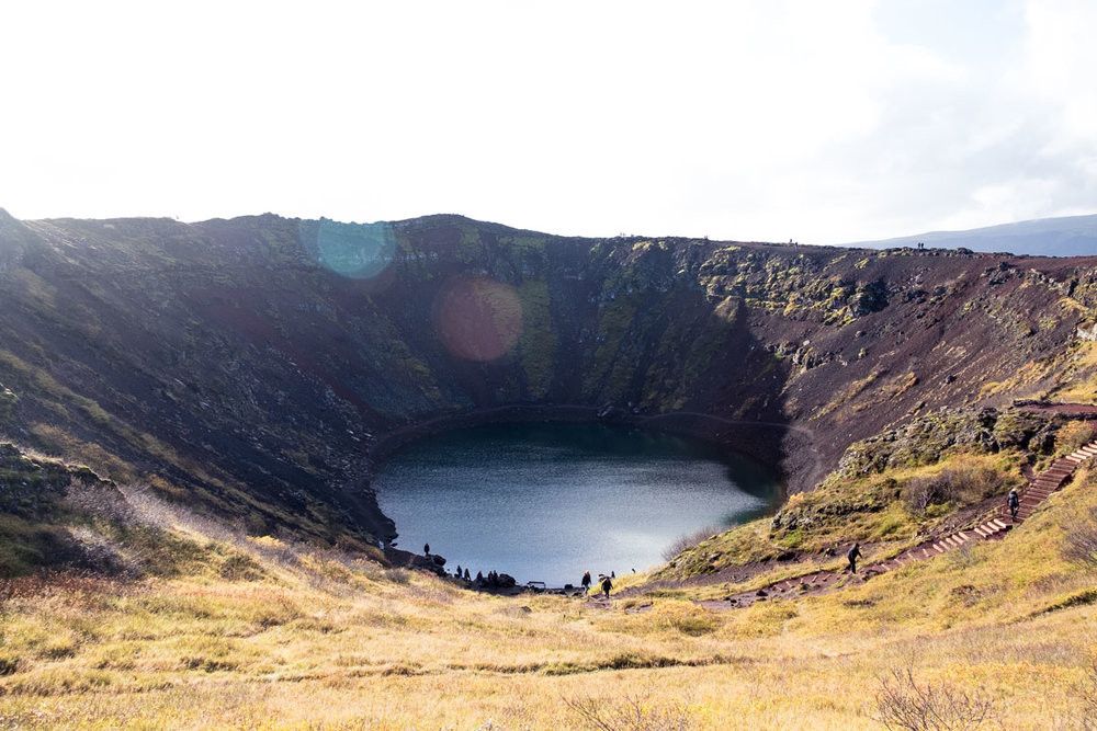 6 days in iceland golden circle kerid crater