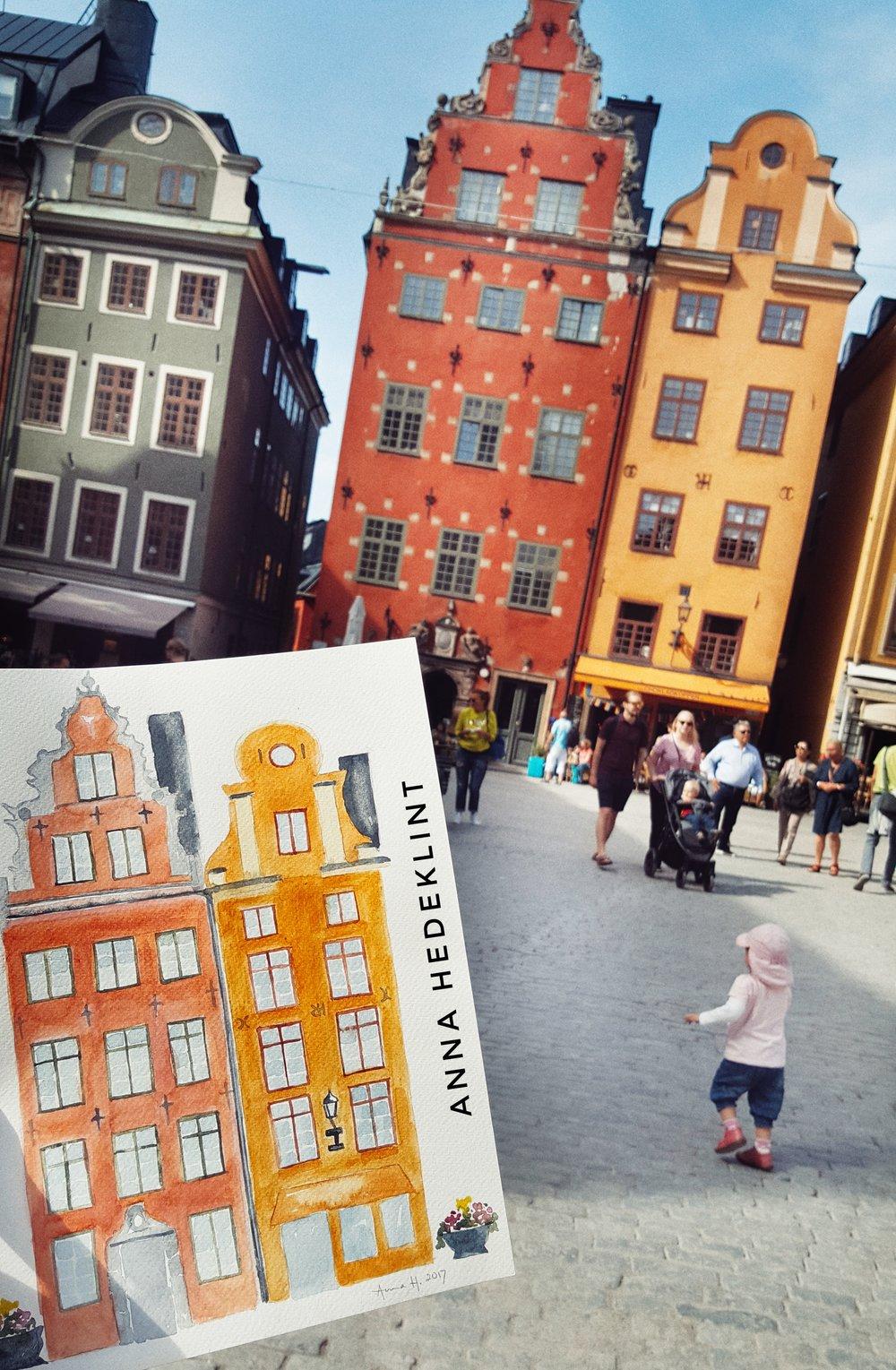 Stockholm Houses Card