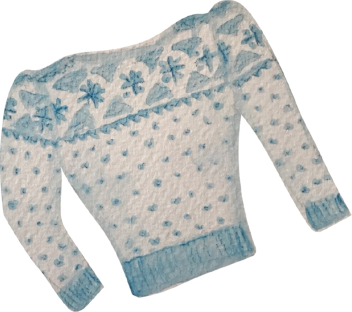 After - a cute cropped slash neck sweater!