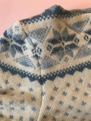 Close-up of sleeve seam