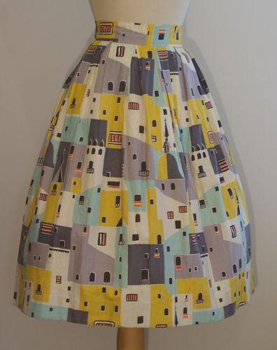 the original inspiration, a vintage 1950s skirt